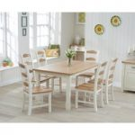 Somerset 150cm Oak and Cream Dining Table with Chairs