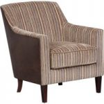 Bowsden Brown Stripe Fabric Accent Chair
