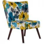 Florence Teal Fabric Accent Chair