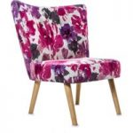 Florence Fuchsia Fabric Accent Chair
