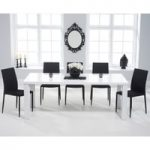 Atlanta 180cm White High Gloss Dining Table with Atlanta Stackable Chairs