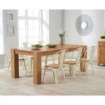 Madrid 200cm Solid Oak Dining Table with Tolix Industrial Style Dining Chairs