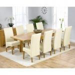 Normandy 150cm Solid Oak Extending Dining Table with Cannes Chairs