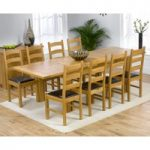 Normandy 150cm Solid Oak Extending Dining Table with Vermont Chairs