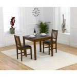 Oxford 80cm Dark Solid Oak Dining Table with Oxford Chairs