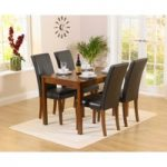 Oxford 120cm Dark Solid Oak Dining Table with Albany Chairs