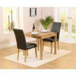Oxford 80cm Solid Oak Dining Table with Albany Brown Chairs