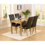 Oxford 120cm Solid Oak Dining Table with 4 Albany Chairs