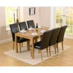 Oxford 150cm Solid Oak Dining Table with Albany Chairs
