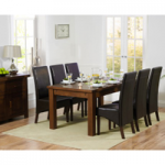 Normandy 180cm Dark Solid Oak Extending Dining Table with WNG Chairs