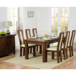 Normandy 180cm Dark Solid Oak Extending Dining Table with Toronto Chairs