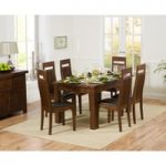 Normandy 150cm Dark Solid Oak Extending Dining Table with Monaco Chairs