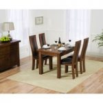 Normandy 120cm Dark Solid Oak Extending Dining Table with Toronto Chairs