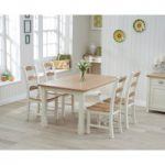 Somerset 130cm Oak and Cream Dining Table with Chairs