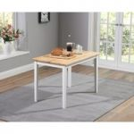 Chiltern 115cm Oak and White Dining Table