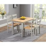 Chiltern 115cm Oak and Grey Dining Table Set with Chairs