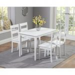 Chiltern 115cm White Dining Set with Chairs
