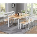 Chiltern 150cm Oak and White Dining Table Set with Chairs