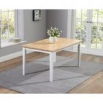 Chiltern 150cm Oak and White Dining Table