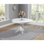Epsom White 120cm Round Pedestal Dining Table