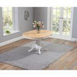 Epsom White and Oak Extending Dining Table