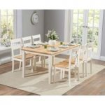 Chiltern 150cm Oak and Cream Dining Table and Chairs