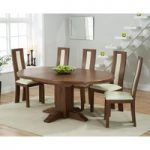 Torino Dark Solid Oak Extending Pedestal Dining Table with Toronto Chairs
