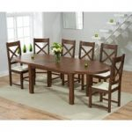 Chelsea Dark Oak Extending Dining Table with Cheshire Chairs