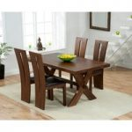 Bordeaux 165cm Dark Oak All Sides Extending Table with Montreal Chairs