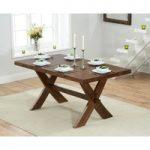 Bordeaux 165cm Dark Oak All Sides Extending Dining Table
