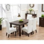 Somerset 150cm Dark Oak Dining Table with Dakota Chairs