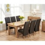 Somerset 180cm Oak Extending Dining Table with Venezia Chairs