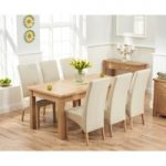 Somerset 180cm Oak Extending Dining Table with Cannes Chairs