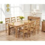 Somerset 180cm Oak Extending Dining Table with Vermont Chairs