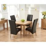 Somerset 90cm Flip Top Oak Dining Table with Venezia Chairs