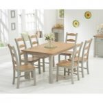 Somerset 150cm Oak and Grey Dining Table with Somerset Chairs