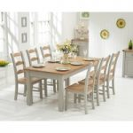 Somerset 180cm Oak and Grey Extending Dining Table with Somerset Chairs