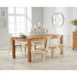 Verona 150cm Solid Oak Extending Dining Table with Tolix Industrial Style Dining Chairs