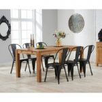 Verona 180cm Solid Oak Dining Table with Tolix Industrial Style Dining Chairs