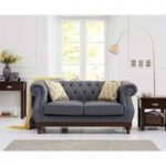 Henbury Chesterfield Grey Leather 2 Seater Sofa