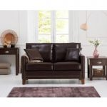 Aston Brown Leather 2 Seater Sofa