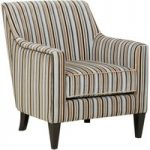 Bowsden Silver Stripe Fabric Accent Chair