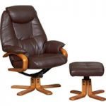 Malai Nut Brown Recliner and Footstool