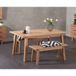 Annalie 160cm Oak Dining Table with Annalie Benches