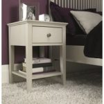 Ashlyn Cotton Painted 1 Drawer Bedside Chest