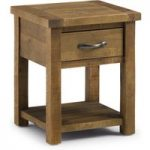 Sierra Rough Sawn Pine One Drawer Lamp Table
