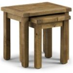 Sierra Rough Sawn Pine Nest of Tables