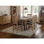 Medford 140cm Oak Extending Dining Table and Chairs