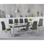 Atlanta 200cm Light Grey High Gloss Dining Table with Calgary Chairs