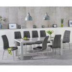 Atlanta 200cm Light Grey High Gloss Dining Table with Calgary Chairs